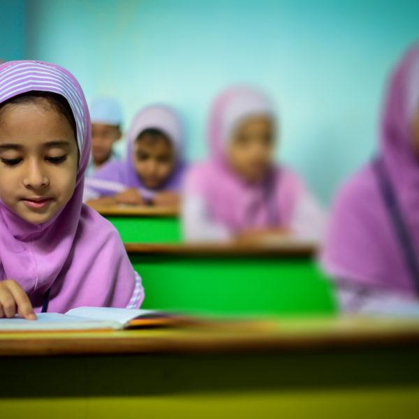 Muslims girls at school