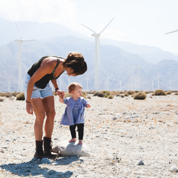 Sustainable Inspiration Windmills with baby