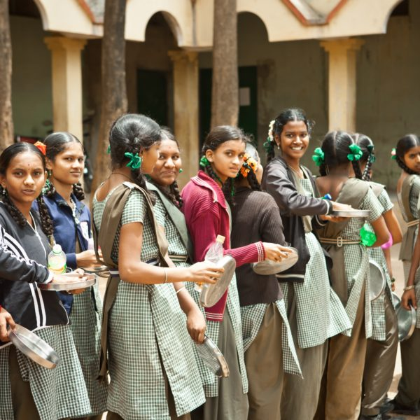 Young Indian girls at school